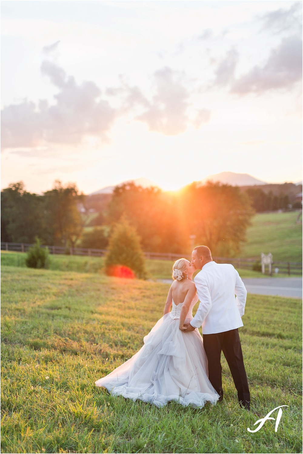 Elegant blush summer wedding at The Trivium Estates in Forest, Virginia || Ashley Eiban Photography || www.ashleyeiban.com