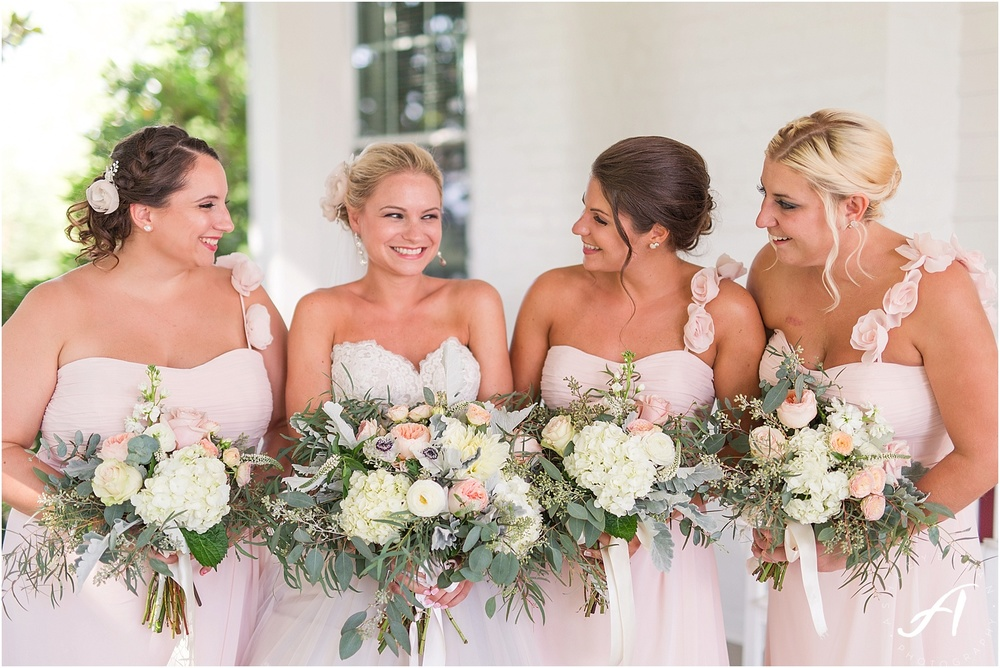 Blush Wedding Party || Outdoor Wedding at The Trivium Estate in Forest, Virginia || Ashley Eiban Photography