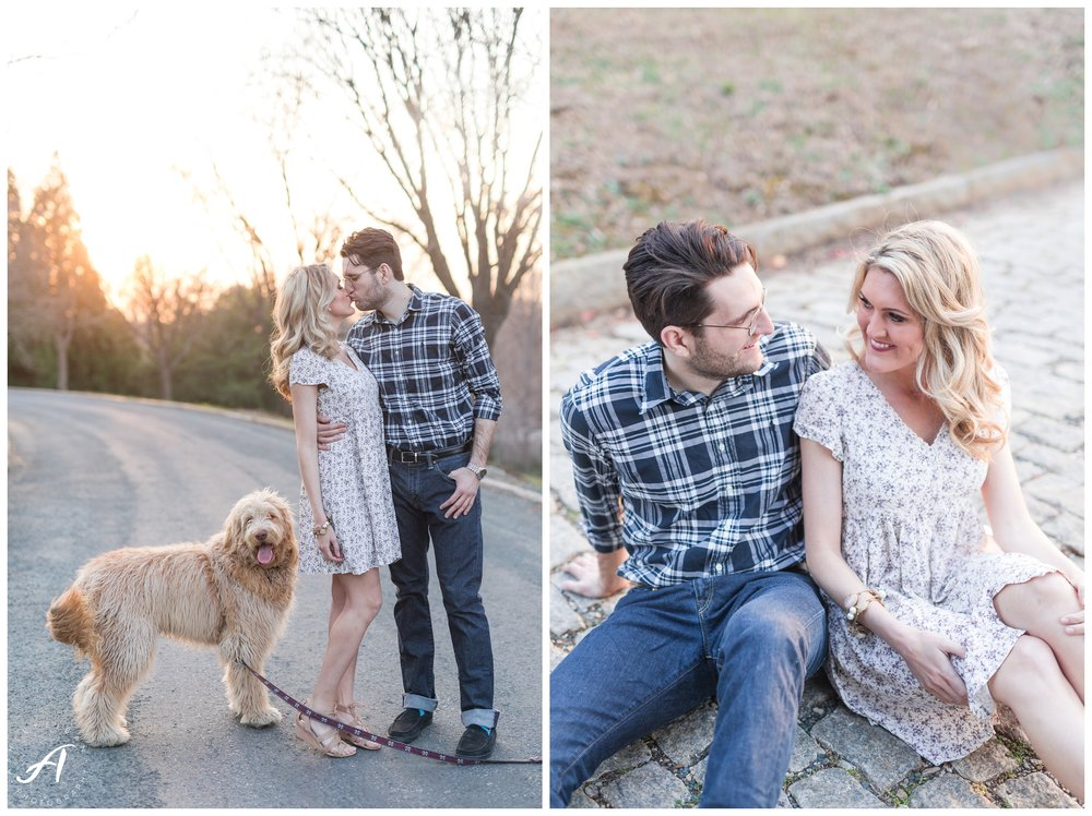 Charlottesville and Lynchburg wedding photographer || downtown lynchburg engagement session || Ashley Eiban Photography || www.ashleyeiban.com