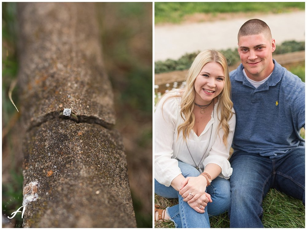 Charlottesville and Lynchburg Spring engagement session || Central VA Wedding Photographer || www.ashleyeiban.com