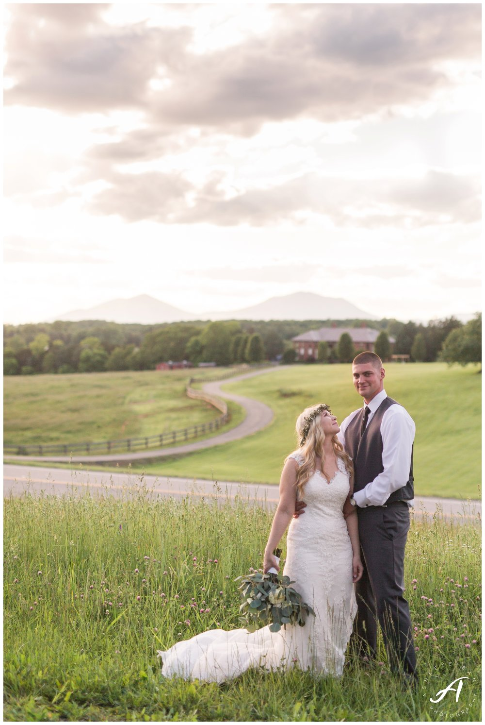 Garden Wedding at The Trivium Estate in Forest Virginia || Wedding Photographer in Charlottesville and Lynchburg VA || www.ashleyeiban.com