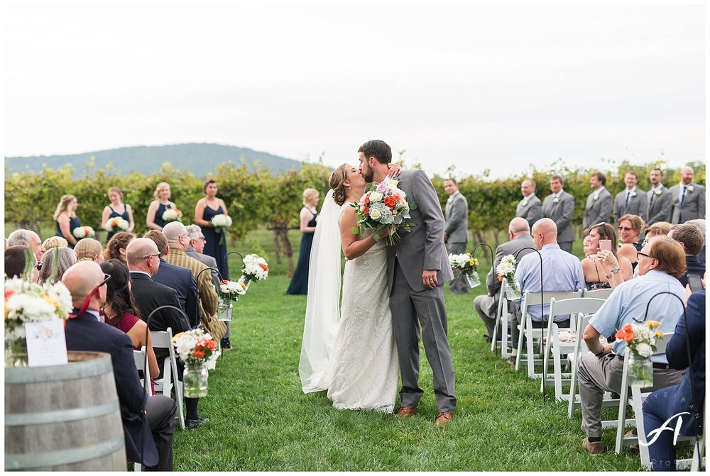 Keswick Vineyard Wedding Photographer || Charlottesville Winery Wedding Photographer || Central Virginia Fall Wedding || www.ashleyeiban.com