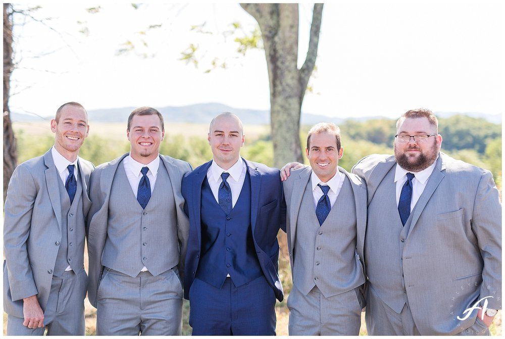 Outdoor Mountain View Wedding || On the Glen at Glenburn Farms Wedding || www.ashleyeiban.com