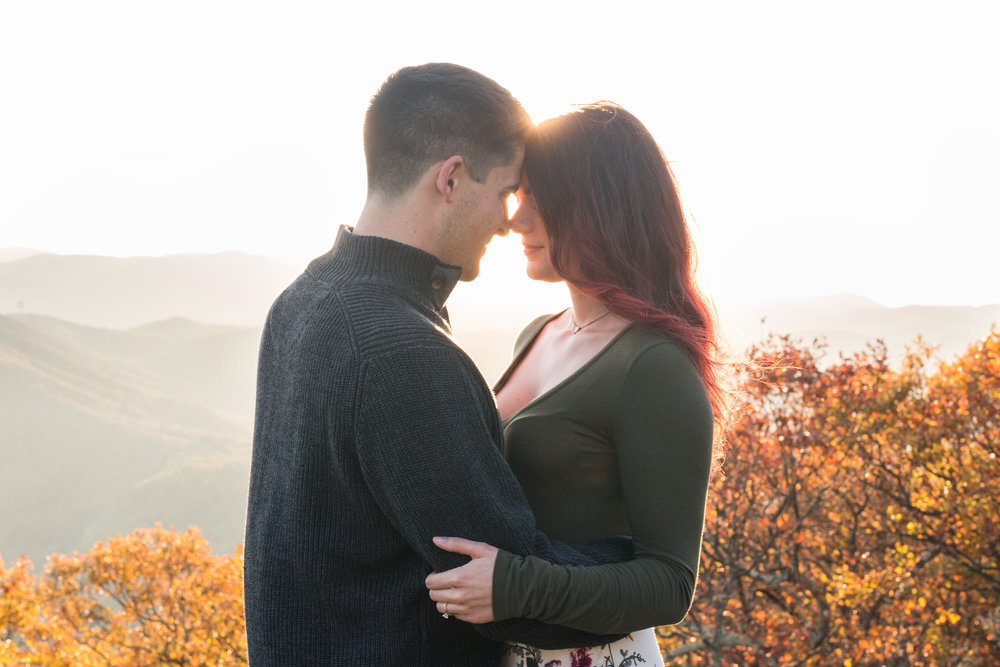 Fall engagement session at the Wintergreen Resort || Lynchburg and Charlottesville Wedding and Portrait Photographer || www.ashleyeiban.com