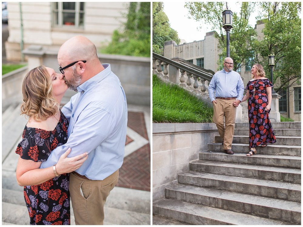 Downtown Lynchburg, VA Engagement Session || Lynchburg Wedding and Portrait photographer