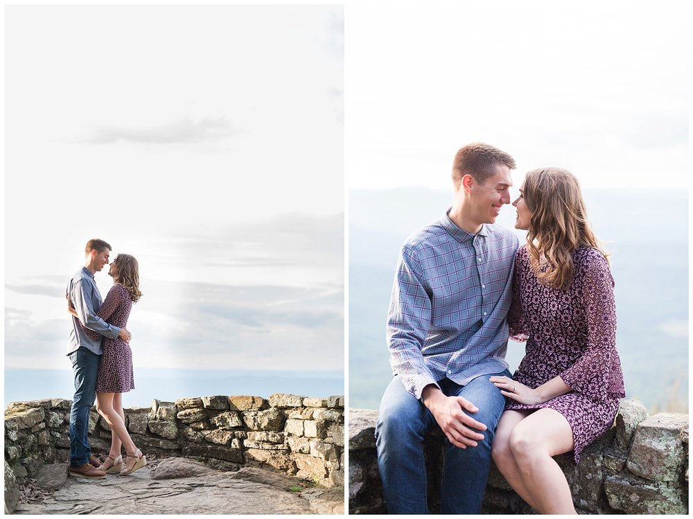 Blue Ridge Parkway Engagement Session || Thunder Ridge Engagement || Lynchburg, Charlottesville Engagements || Ashley Eiban Photography || www.ashleyeiban.com