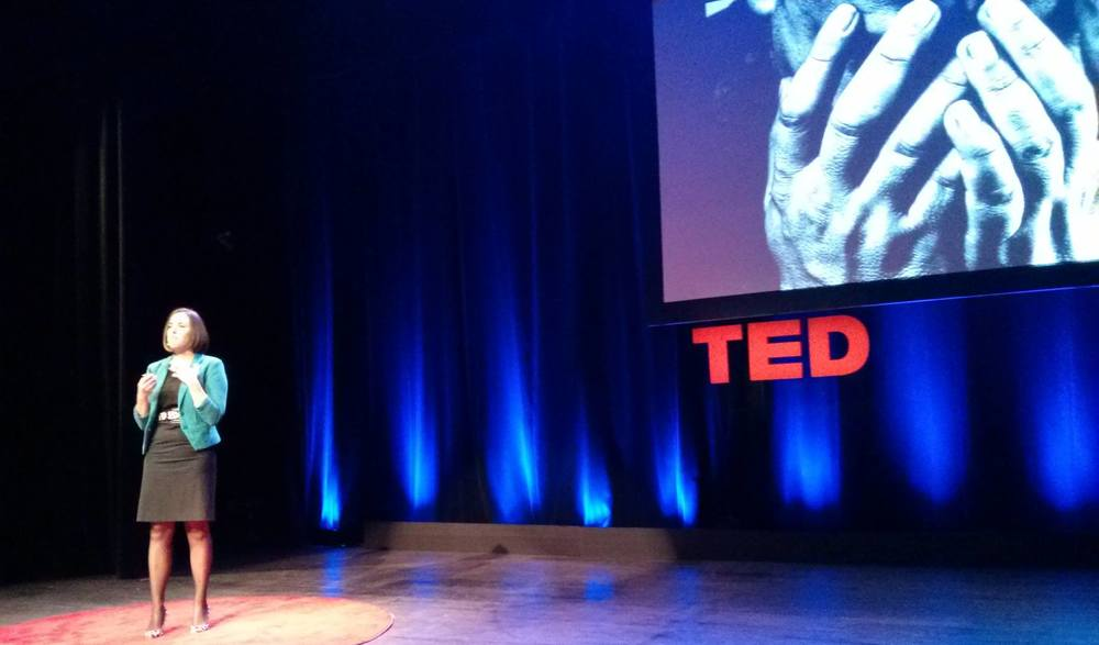 Speaking at a TED conference