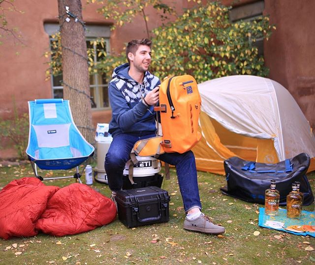 @outsidemagazine shows off some of their favorite @backbonemedia products today. 📷: @andrew_gerrie #backbonemedia #builtforthewild #geartest #camping #suertetequila #outside #fishpondusa
