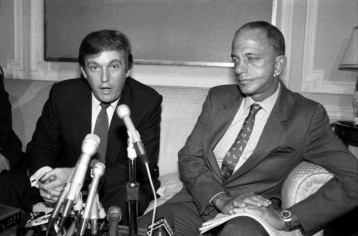 Donald Trump and Roy Cohn (Credit: Bettmann/Getty)