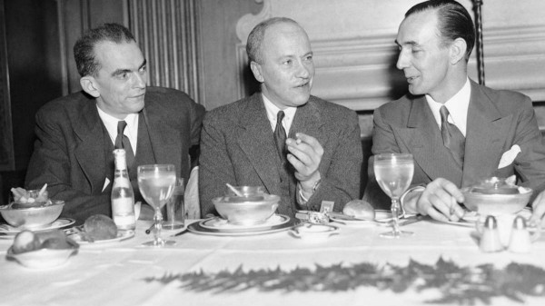 Walter Duranty with--on left--Kenneth Durant of pro soviet TASS