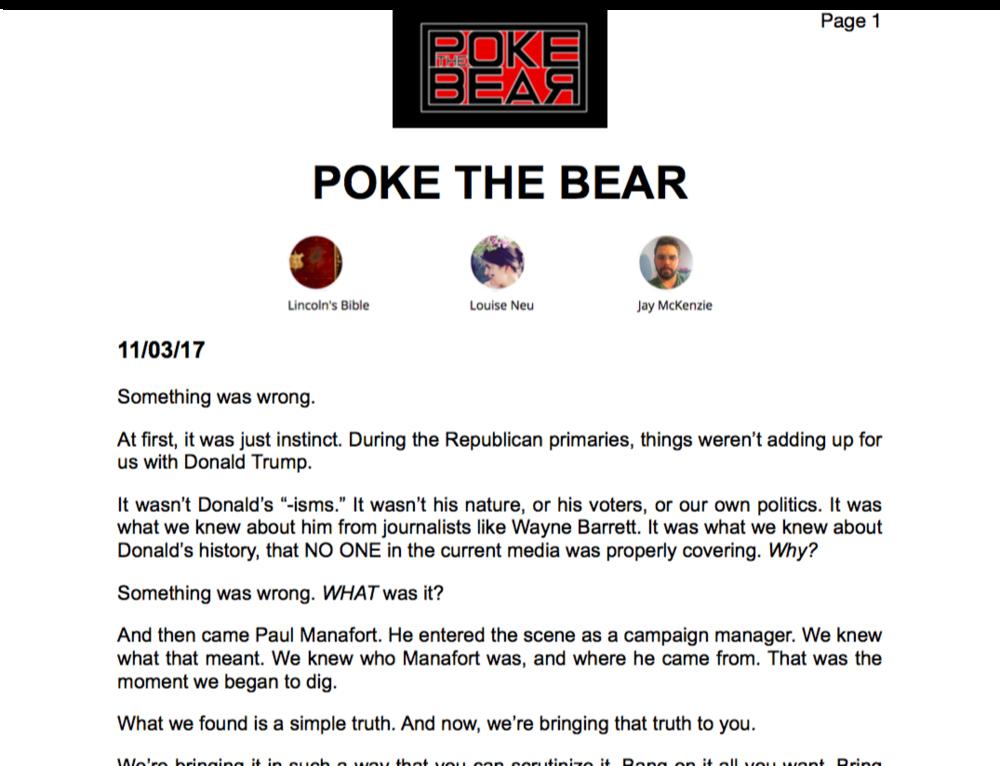 Poke The Bear Printable PDF