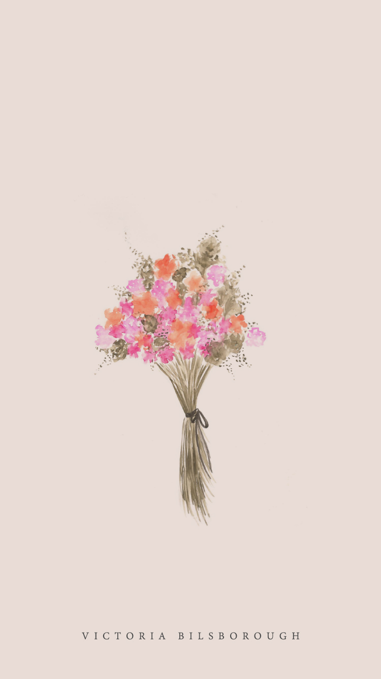Spring Bouquet iPhone Wallpaper