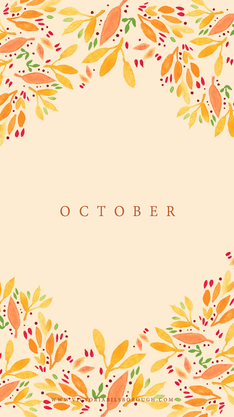 October Floral Wallpaper - www.victoriabilsborough.com