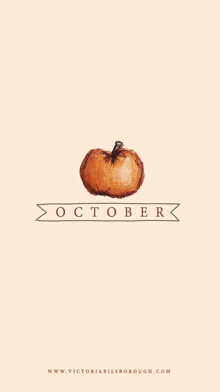 October Pumpkin Wallpaper - www.victoriabilsborough.com