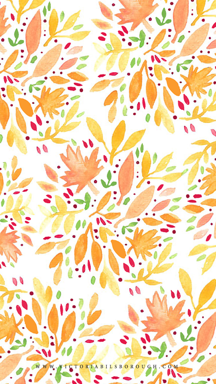 October Floral Wallpaper Pattern - www.victoriabilsborough.com