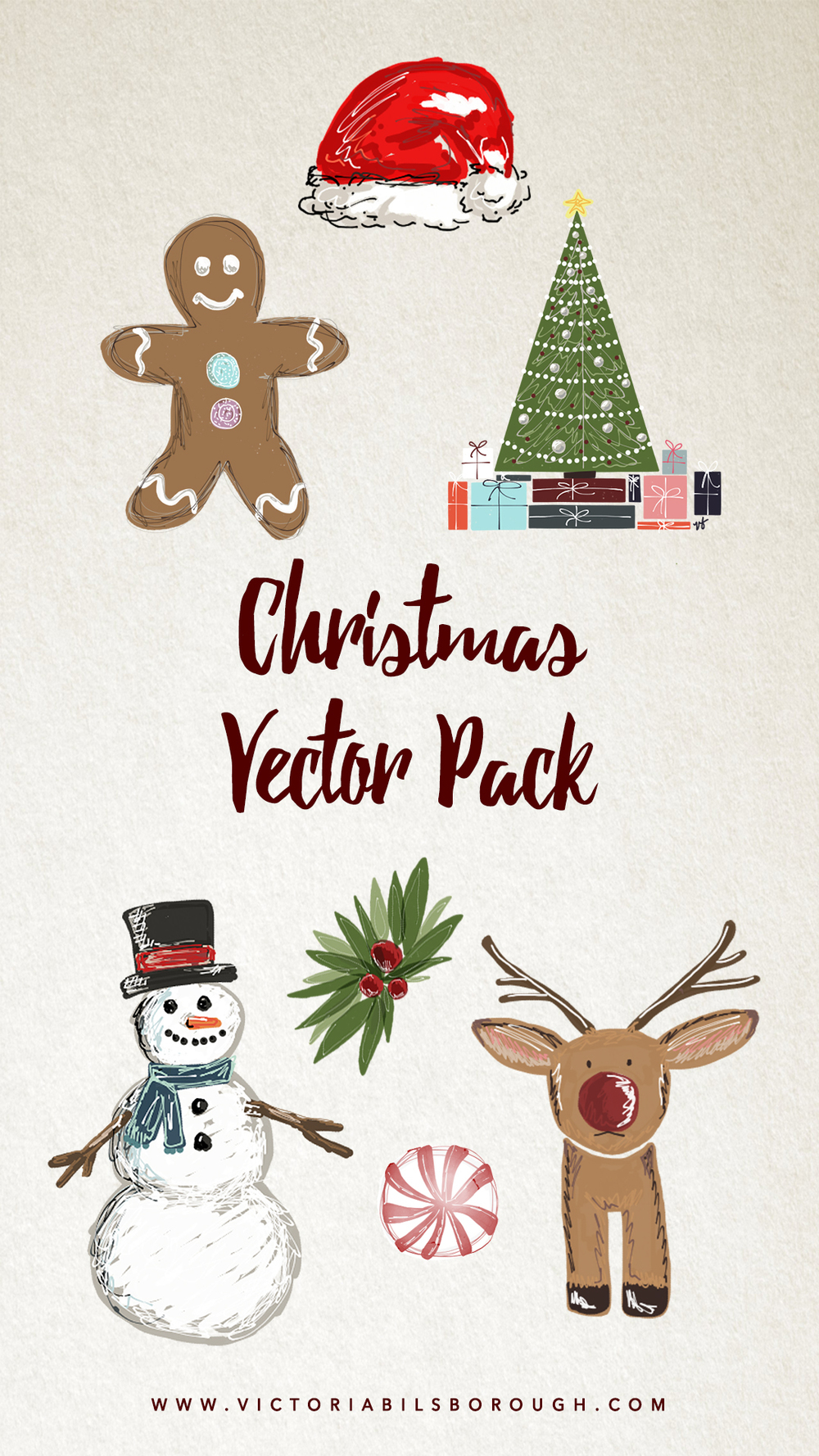 Christmas Vectors - www.victoriabilsborough.com