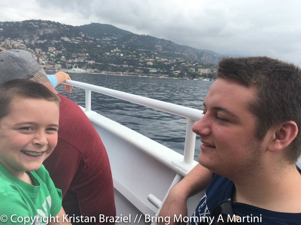 On the tender from the ship to shore