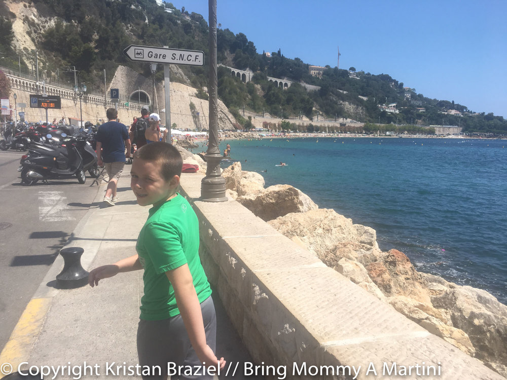 Walking along the French Riviera. No biggie.