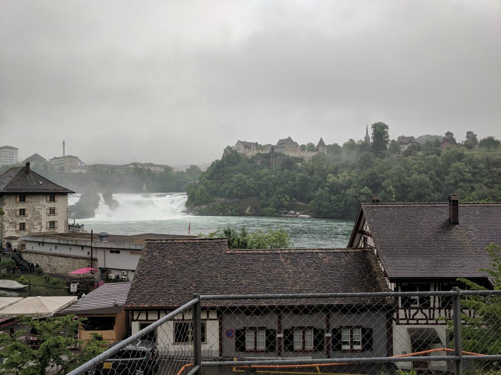 Rhine Falls, the largest waterfall in Europe