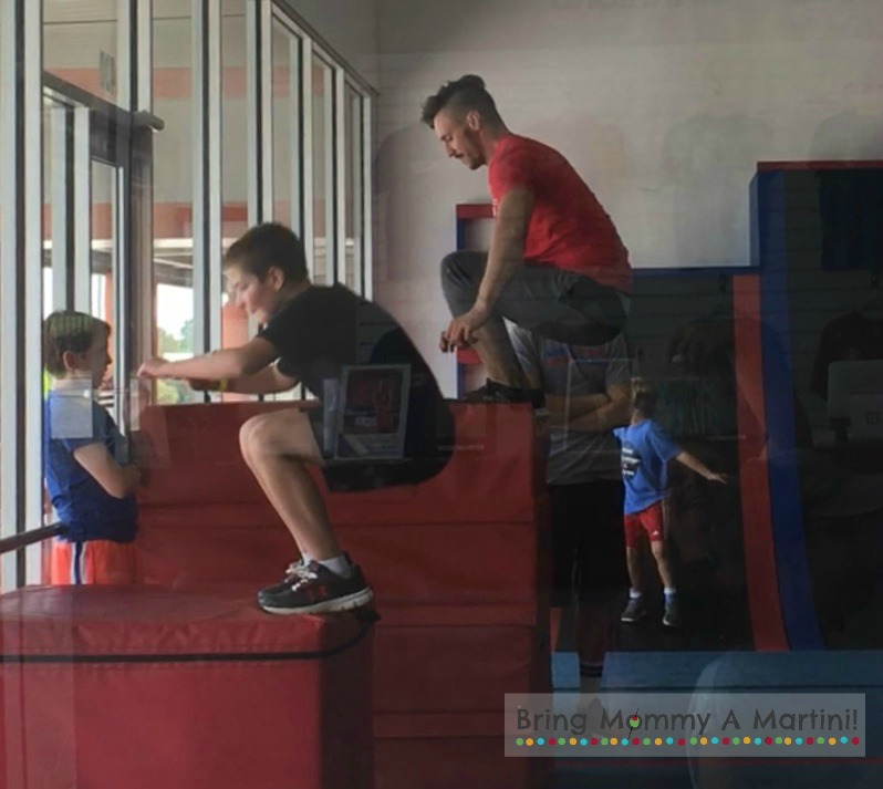 This is my nephew having a box jump-competition against Damir Okanovic. Damir told him if he did 20 box jumps, he would do 20 on the bigger one. My nephew cranked out 20 jumps in 58 seconds. What a beast!