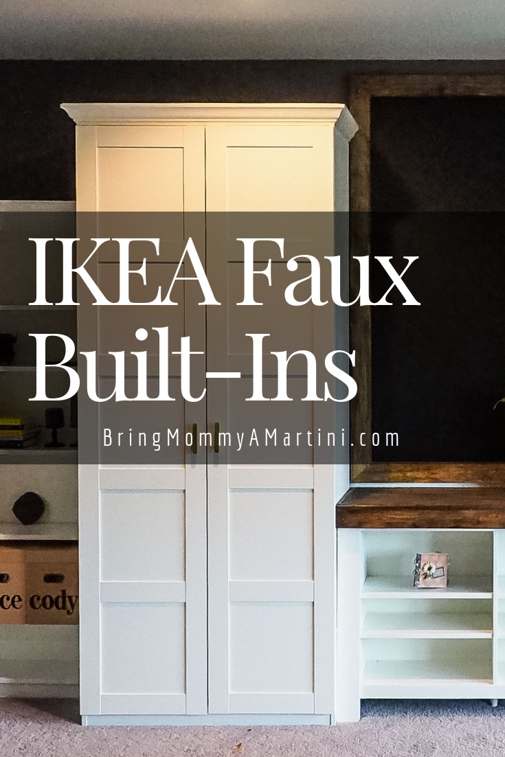 Ikea Faux Built Ins At Long Glorious Last Bring Mommy A