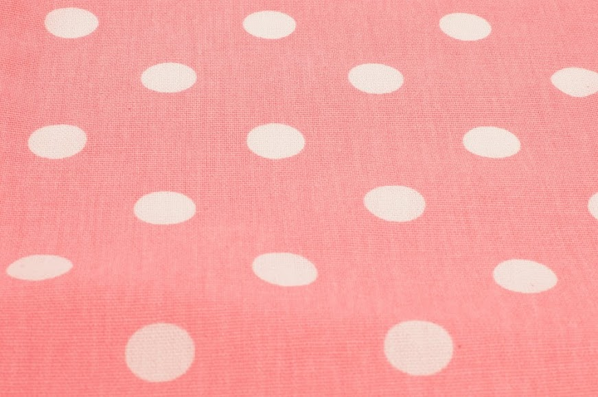Baby Pink White Polka Dots