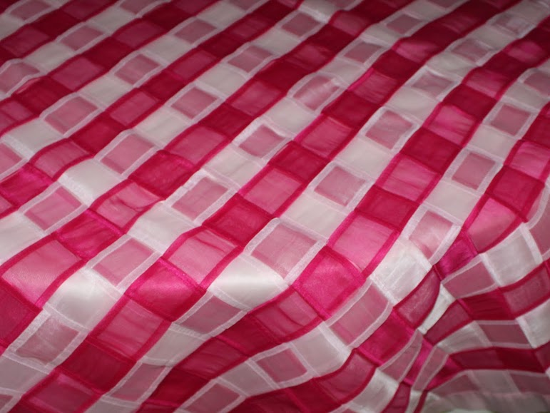 Fuchsia Light Pink Basket Weave
