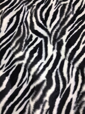 Black and White Zebra Fur