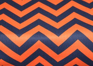 Navy and Orange Zig Zag