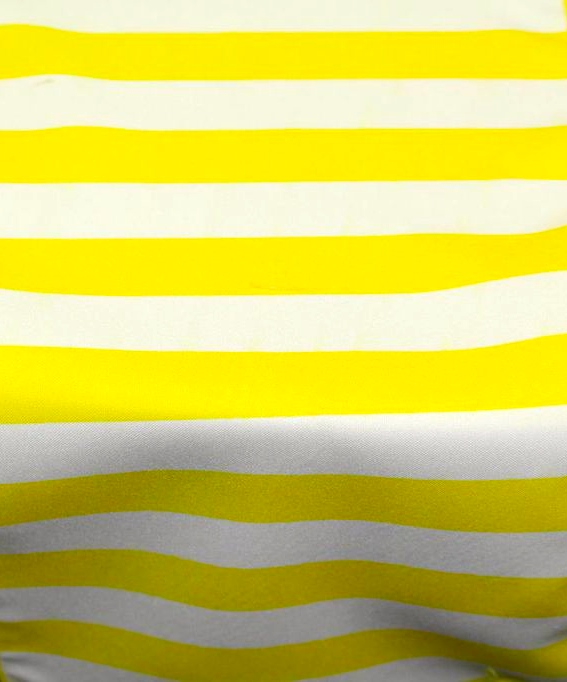 Yellow & White Stripe