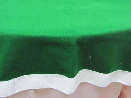 Green Felt with White Border