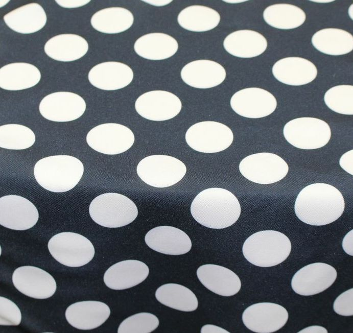 Black with W  hite Polka Dot