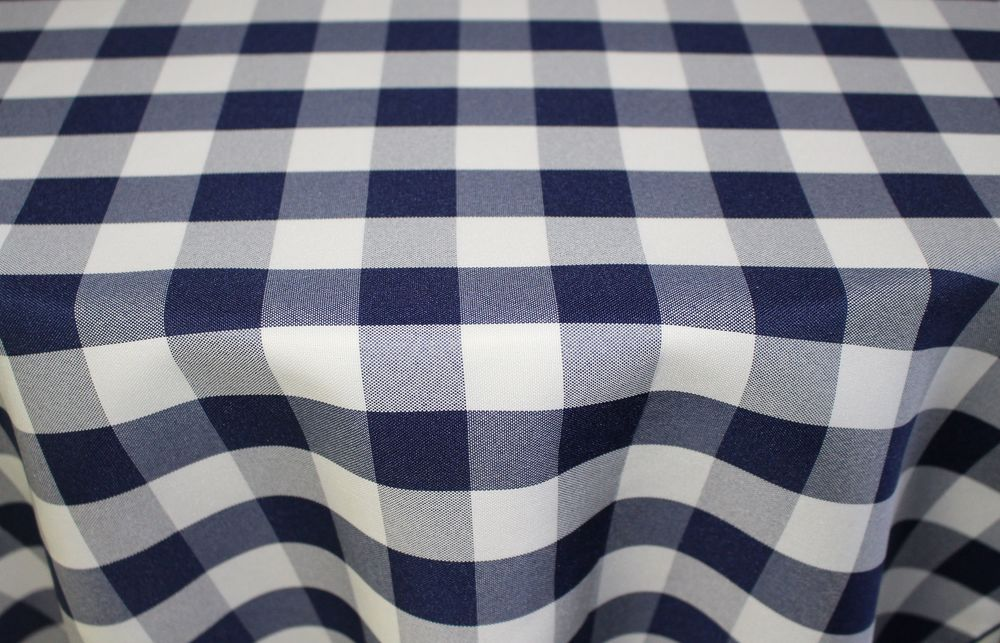 Navy/White Poly  check