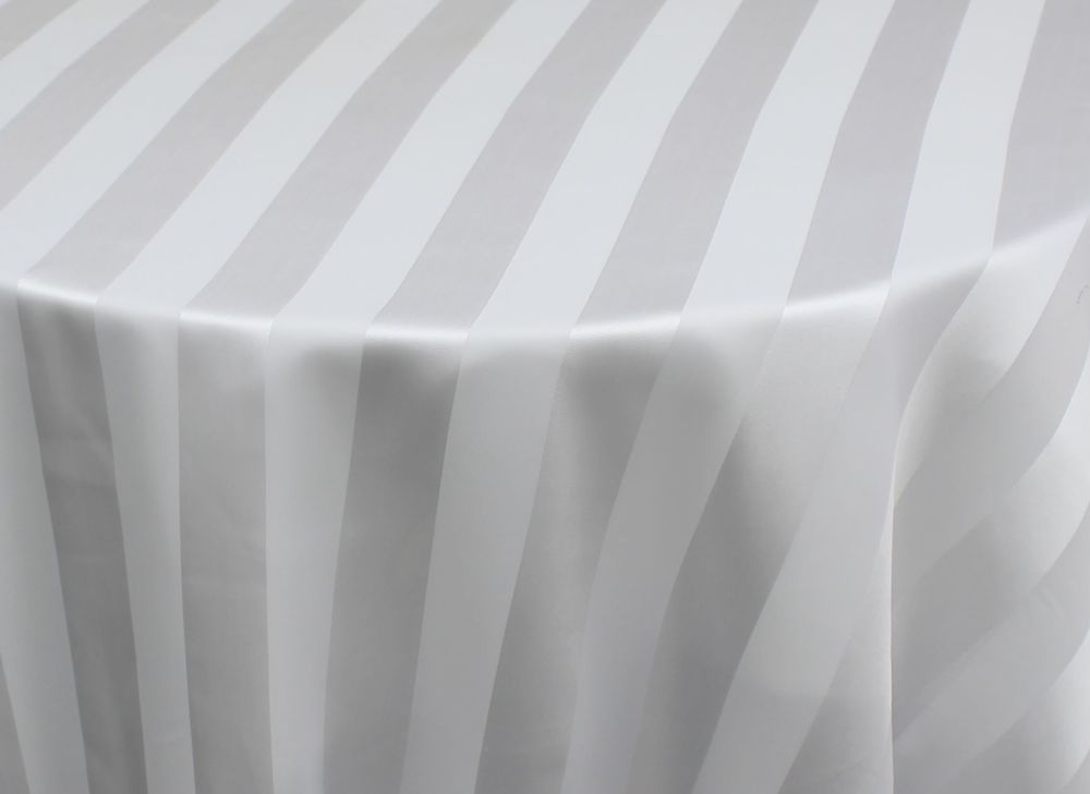 White Sheer Stripe Overlay
