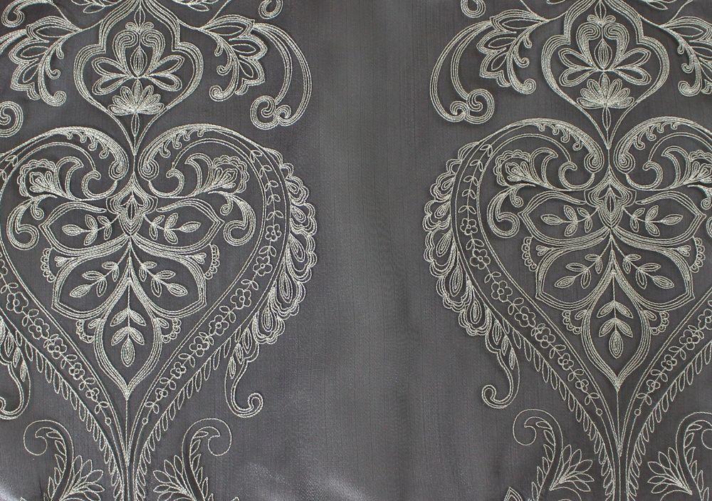 Sheer Charcoal Florence Overlay