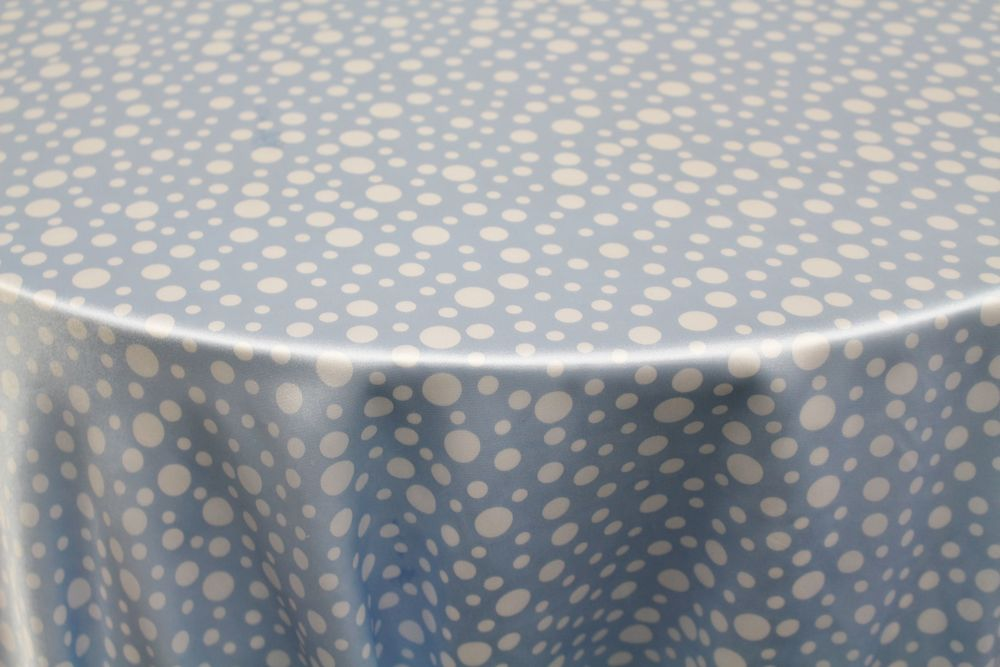 Light Blue and White Polkadots
