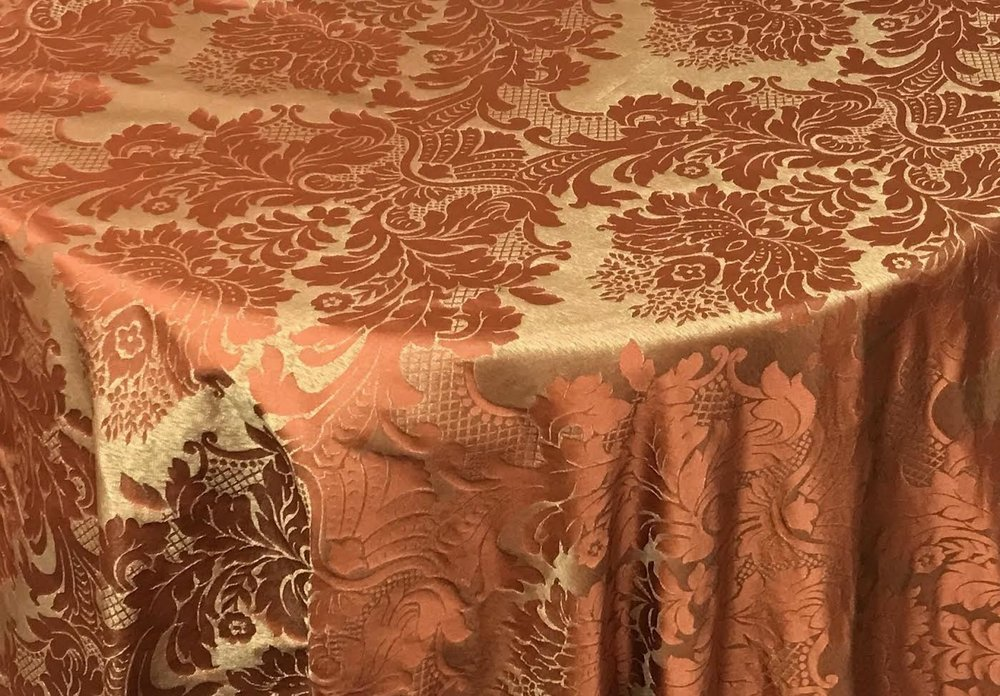 Pattern: Kensington Damask Color: Copper/Gold Content: 100% Polyester