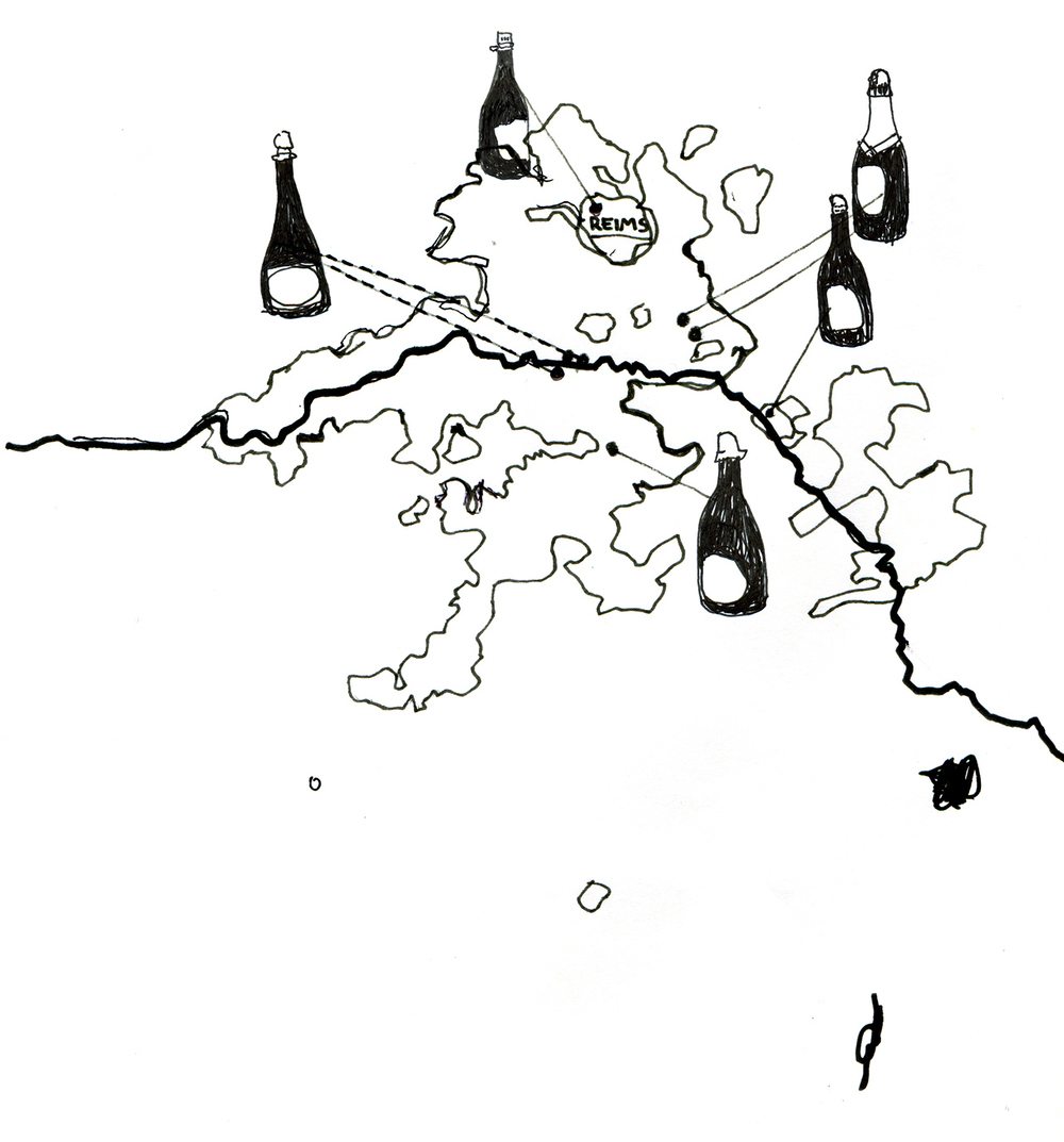 Hix Champagne Regions Map