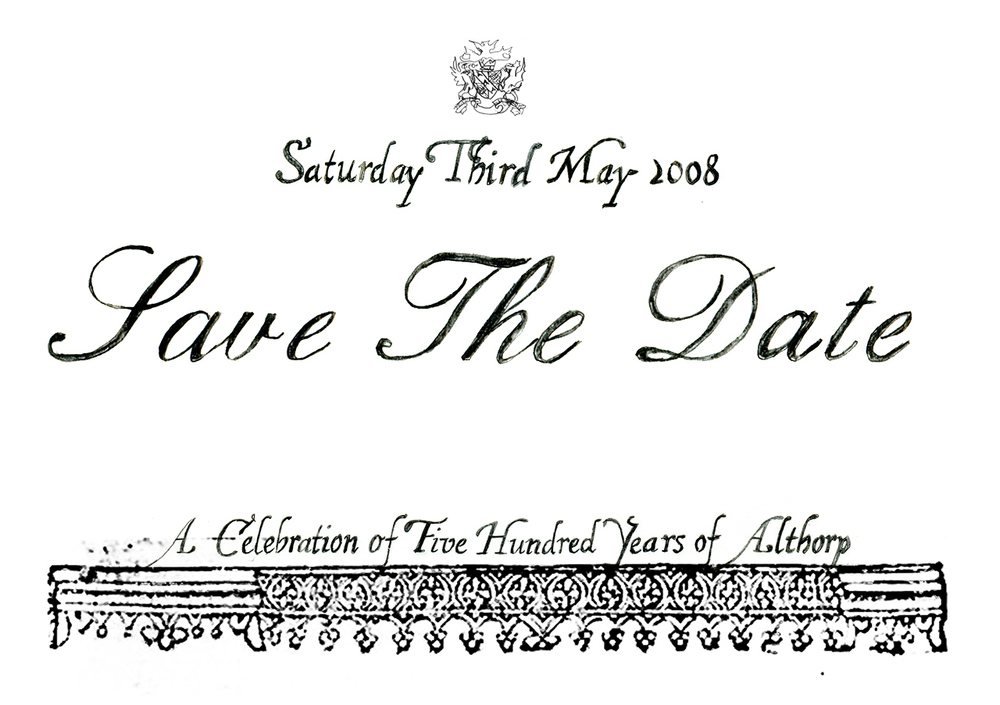 Althorp 500th Anniversary Save the Date