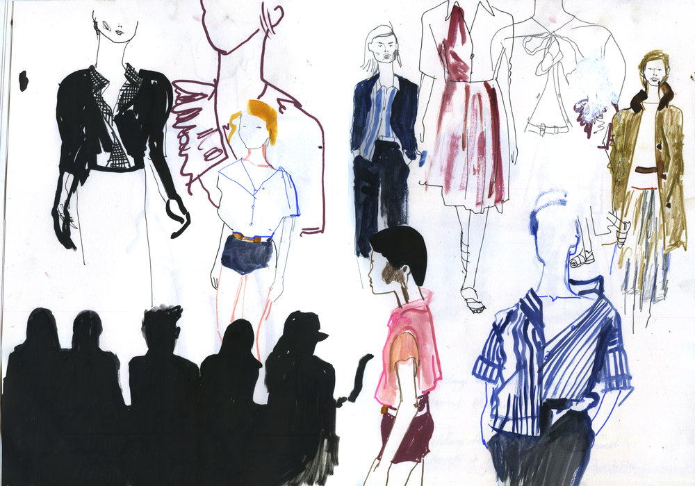Margaret Howell Live Drawing ss17