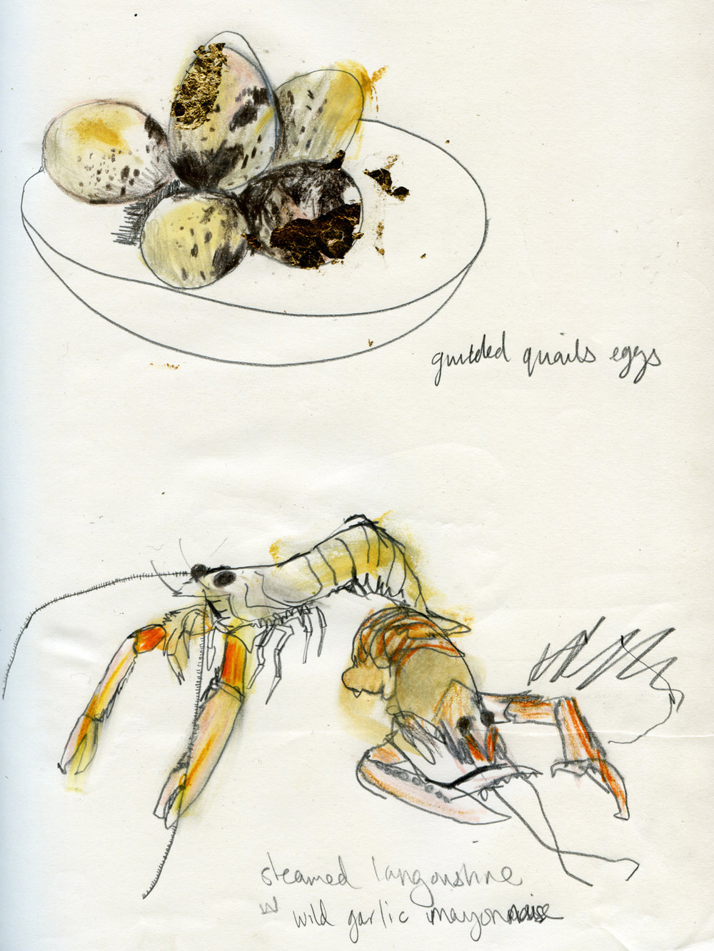 Langoustines and Quails Eggs for The Raisa Gorbachev Foundation