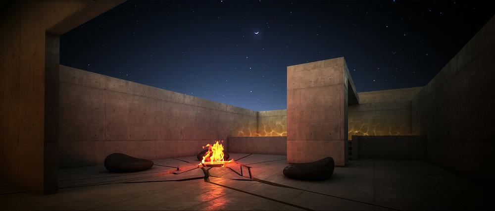 Fire Element Courtyard