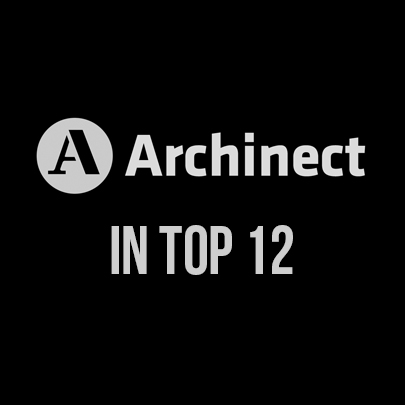 2013 - TOP 12 MOST VIEWED DESIGNERS OF 2012 ON ARCHINECT.COM - During 2012, our project on Archinect was in the top 12 most viewed projects around the world.