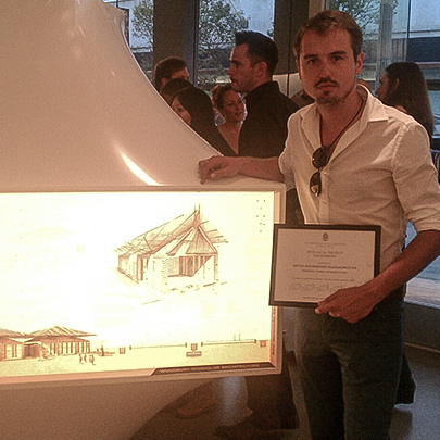 2012 - (1ST PLACE) AWARD AT AIA LOS ANGELES, 2X8 EXHIBITION - School for Darfurian Refugees Project