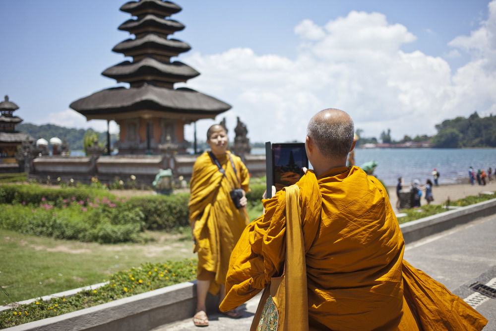 Monks on vacation