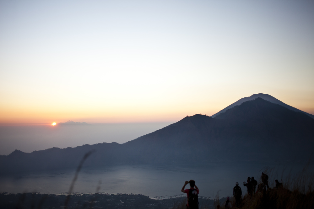 Mt. Batur, with views of Mt. Agung and Lombok
