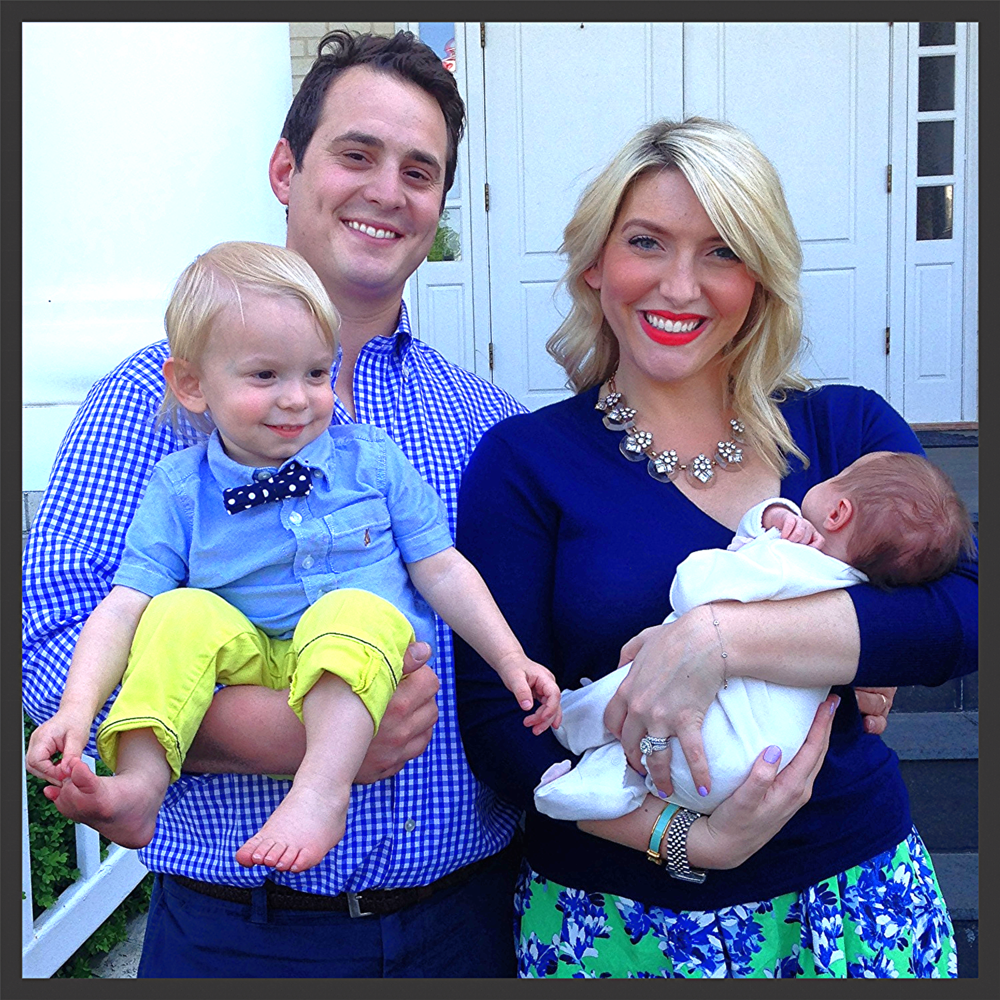 Hayley with her husband Ricky, son Emmett, and daughter Georgia.
