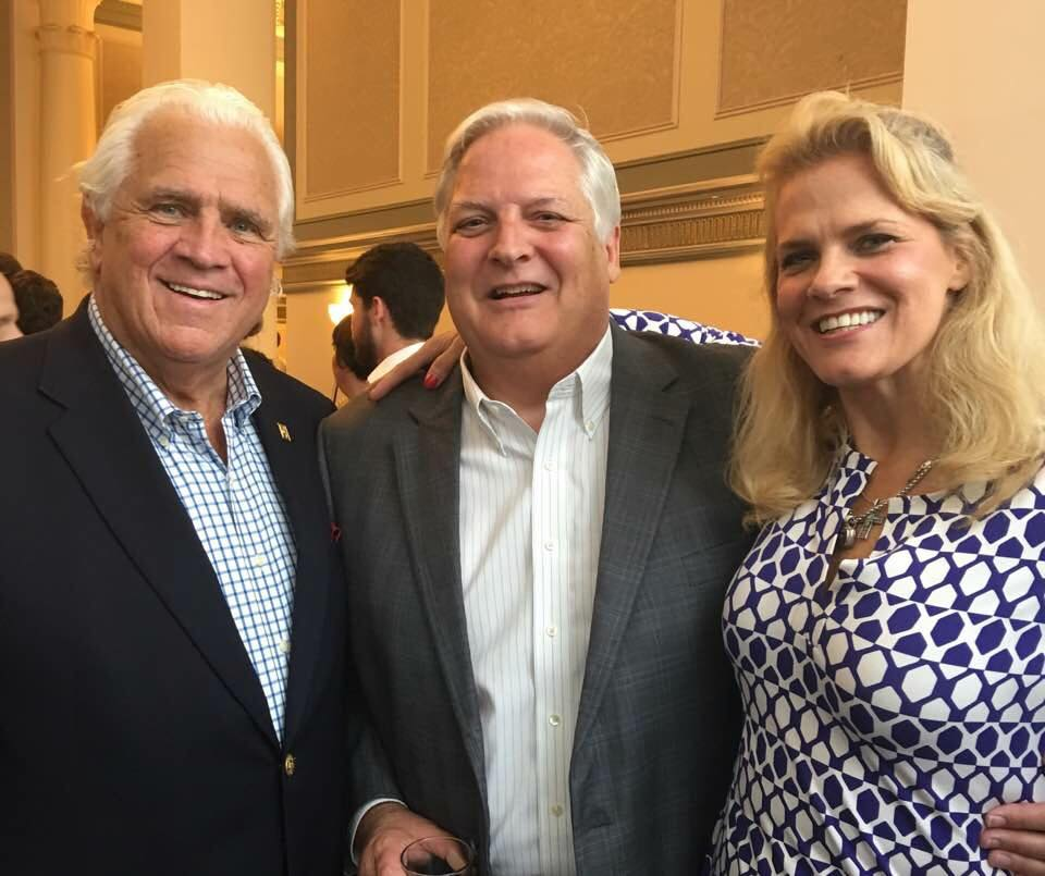 Democratic National Convention with Senate President Mike Miller and his daughter Melanie Miller