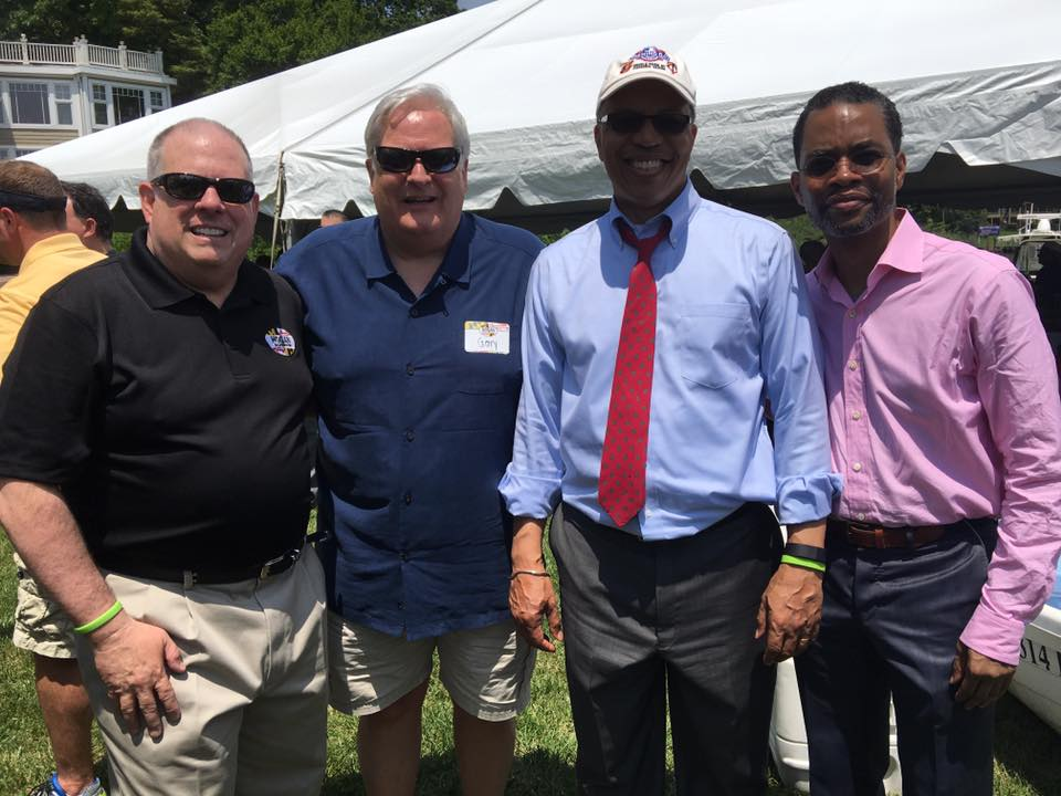 Blue Angels Performance in Annapolis with Governor Hogan, Lieutenant Governor Rutherford, and Verizon's Tabb Bishop