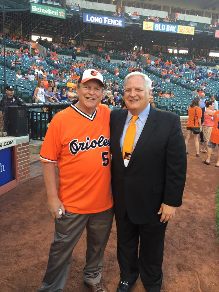 Secretary Rahn threw out the first pitch for the O's game against the Texas Rangers